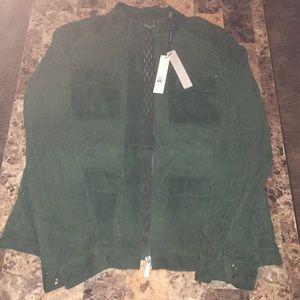 Green Suede Elie Tahari Jacket